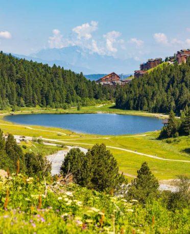 Vue sur la réserve Tueda à Mottaret