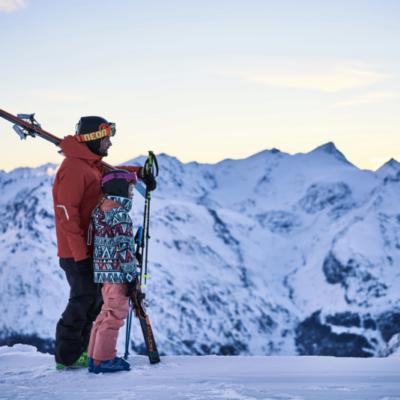 Skieurs les arcs