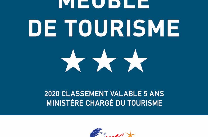 Meublé de tourisme - 3 étoiles