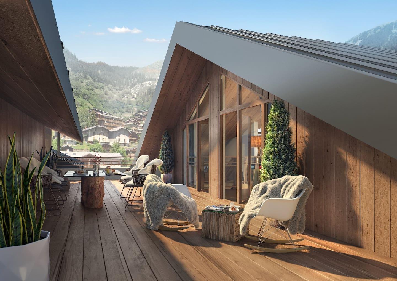 Les Terrasses de la Vanoise - perspective terrasse