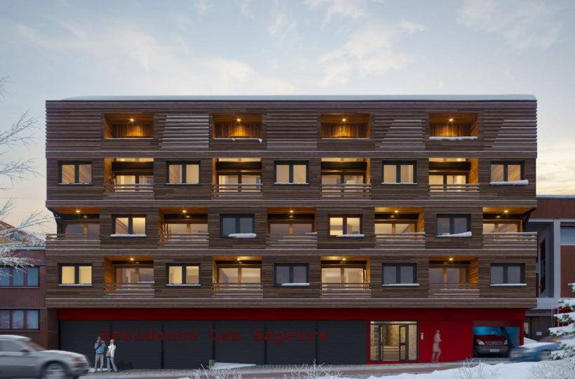 Perspective de la façade de l'Alpine Loft