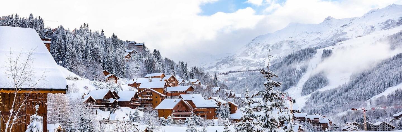 Village de Méribel en hiver