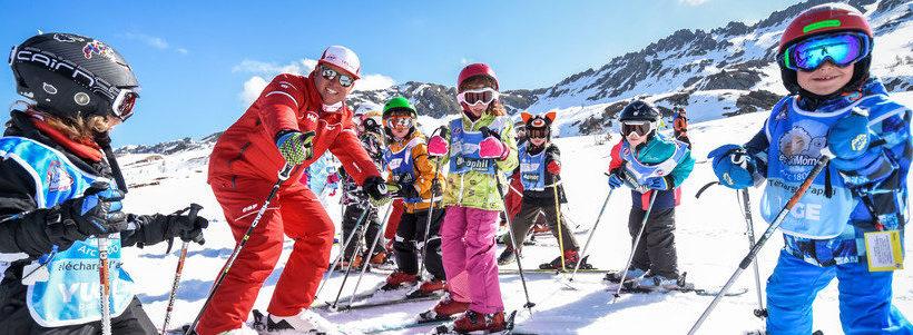 Cours débutants ski les arcs