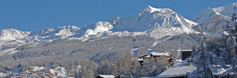 Village de La Plagne Les Coches en hiver